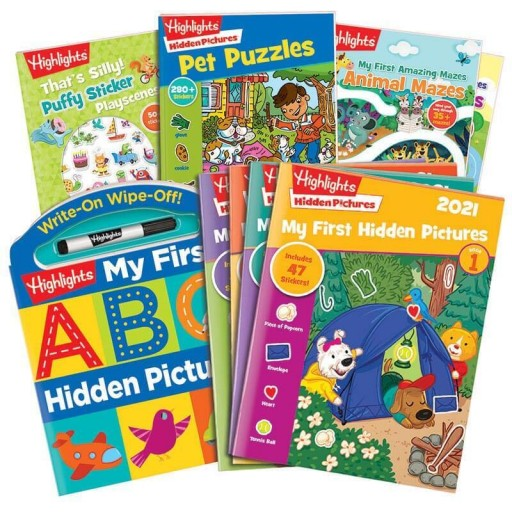 Preschool Gift Set with 4 books and My First Hidden Pictures 2021 4-book set