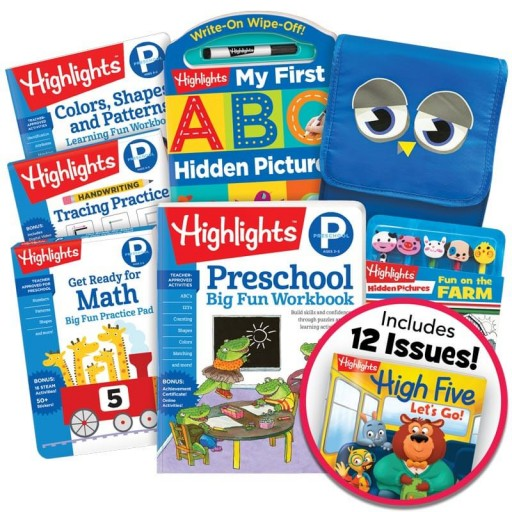 School Success Pack, Preschool, with 5 books, lunch tote, puzzle and pencil kit, and magazine subscription