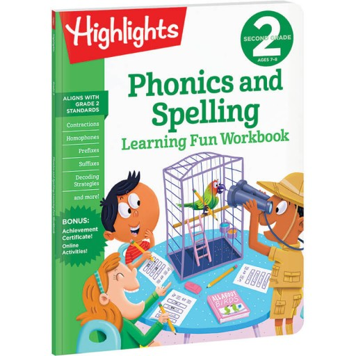 Second Grade Learning Fun Workbook: Phonics and Spelling