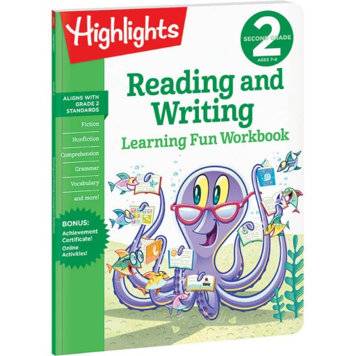 Second Grade Learning Fun Workbook: Reading and Writing