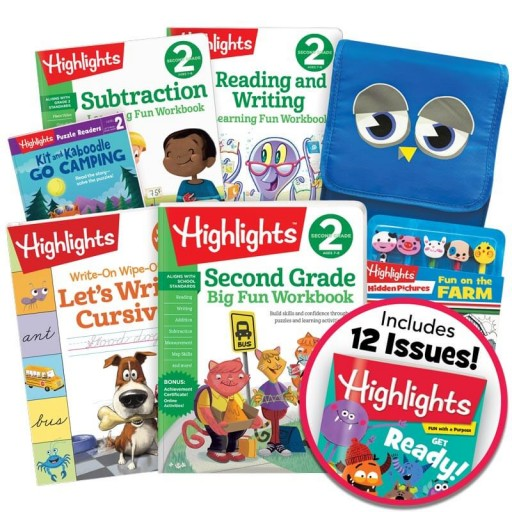 School Success Pack, Second Grade, with 5 books, lunch tote, puzzle and pencil kit, and magazine subscription