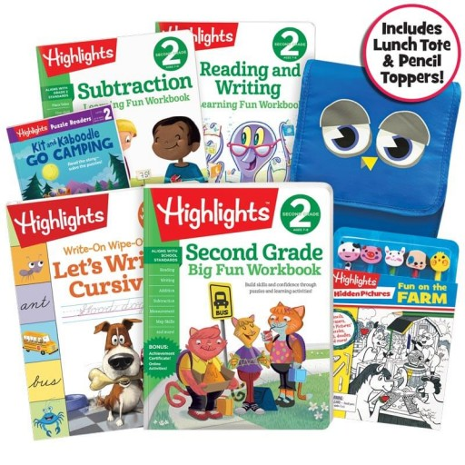 School Success Pack, Second Grade, with 5 books, lunch tote, and puzzle and pencil kit