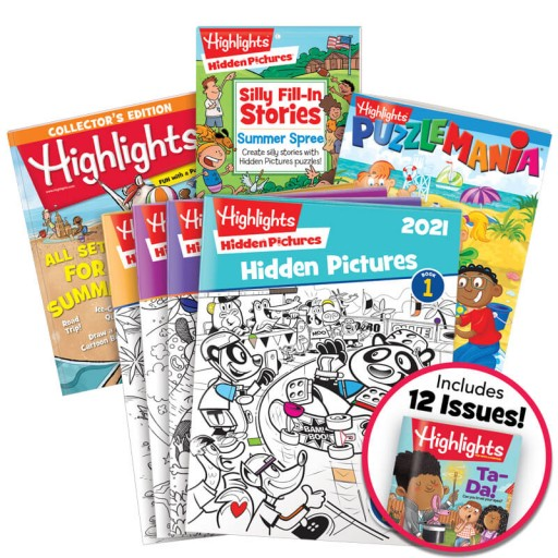 Deluxe Summer Fun Gift Set for Ages 6-12 with 7 books and magazine subscription