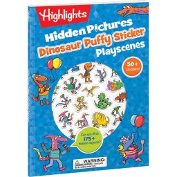 Hidden Pictures Dinosaur Puffy Sticker Playscenes book including 50+ stickers