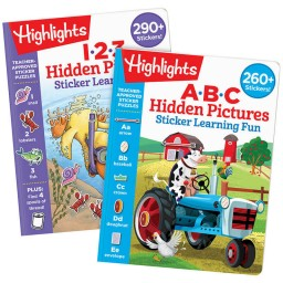 Hidden Pictures Sticker Learning Fun Set with 2 books