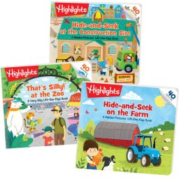 Lift-the-Flaps Books Collection includes 3 board books