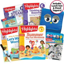 Premium Summer Learning Pack: K-1, with 5 books, lunch tote and pencil toppers kit