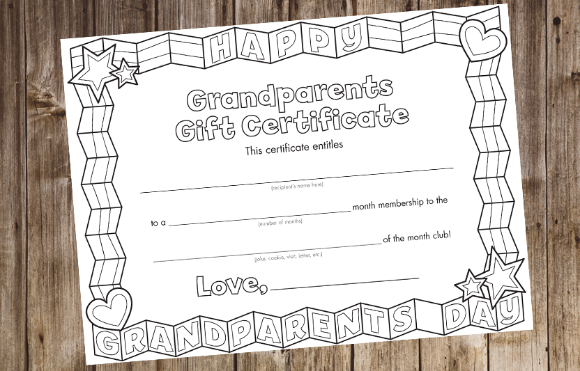 grandparents day invitation template