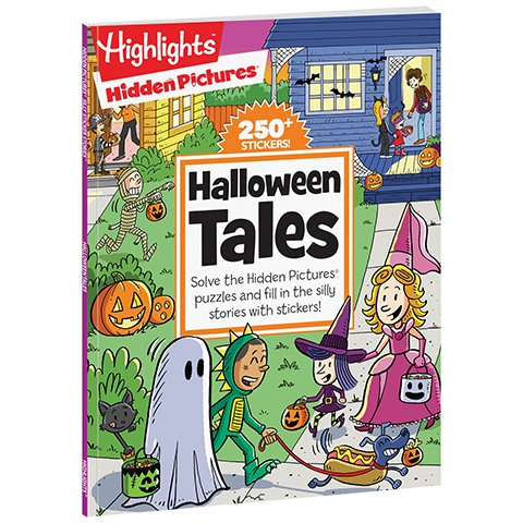 Hidden Pictures Silly Sticker Stories Halloween Tales Highlights